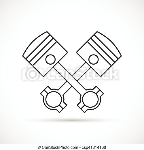 Crossed Engine Pistons Vector Clipart Illustrations 151 Crossed