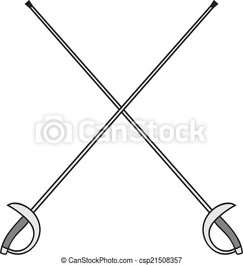 crossed fencing swords - csp21508357