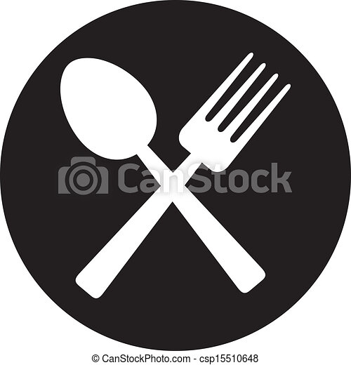 crossed fork and spoon - csp15510648