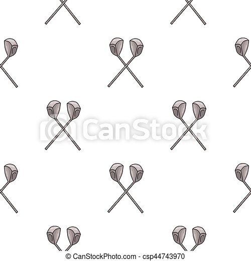 Crossed Golf Clubs Icon In Cartoon Style Isolated On White