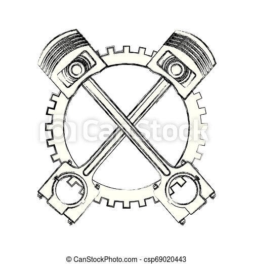 Crossed Pistons Clipart And Stock Illustrations 209 Crossed Pistons