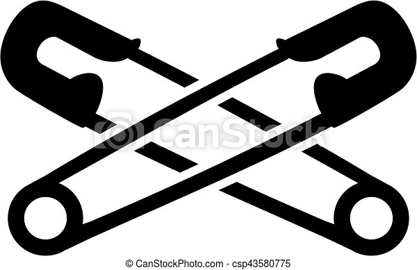 Crossed safety pins - csp43580775