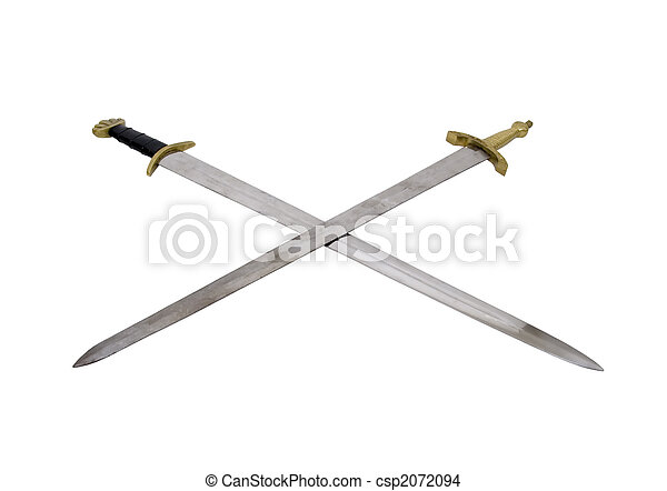 Crossed swords - csp2072094