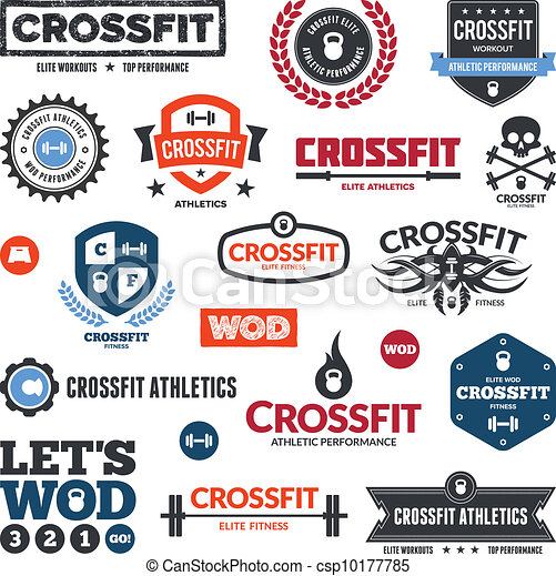 Crossfit athletics graphics - csp10177785