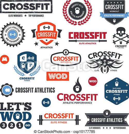 Crossfit athletics graphics - csp10177785