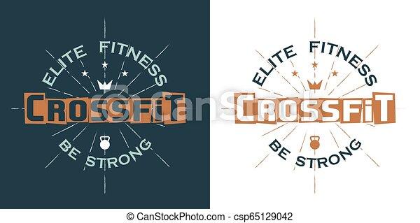 Crossfit logo, elite fitness - csp65129042
