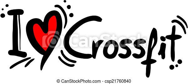 Creative Design Of Crossfit Love Eps Vector