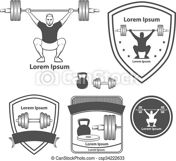 Crossfit Weightlifting Logo Training Concept
