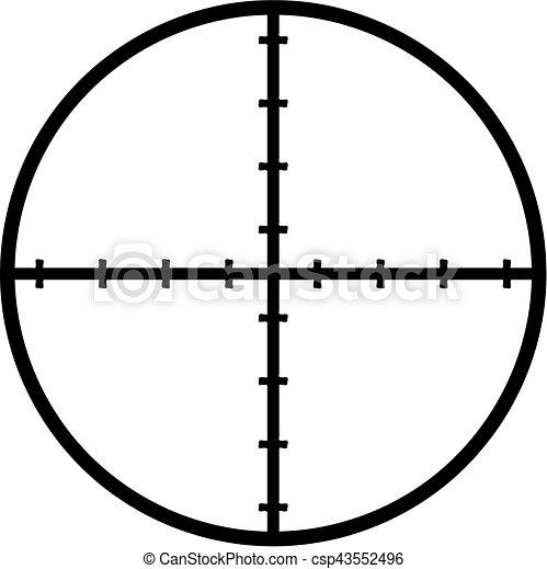 crosshair reticle target eps vectors search clip art illustration rh canstockphoto com crosshair vector free download download vector crosshair