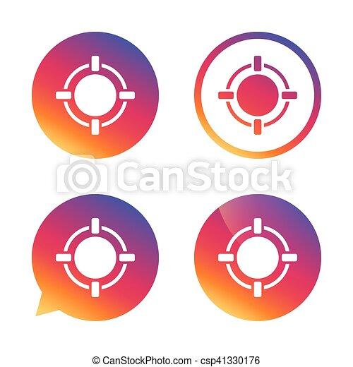 Crosshair sign icon. Target aim symbol. - csp41330176