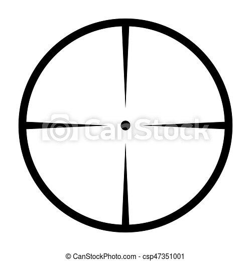 crosshair target vector symbol icon design beautiful vector rh canstockphoto com crosshair vector art crosshair vector free download