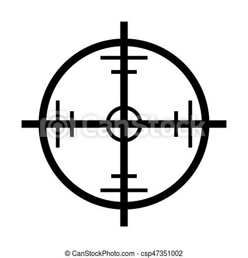 crosshair target vector symbol icon design beautiful vector rh canstockphoto com crosshair vector free download corsair factory refurbished