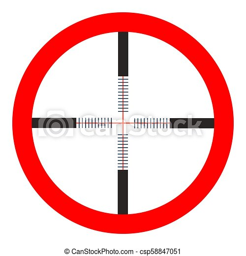 crosshairs icon - vector target aim, sniper symbol - weapon illustration. - csp58847051