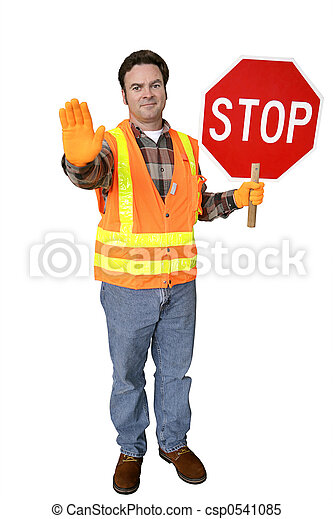 Crossing Guard Full Body Isolated - csp0541085
