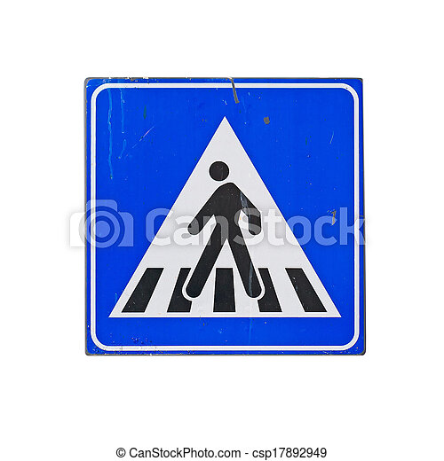 crossing sign on white - csp17892949