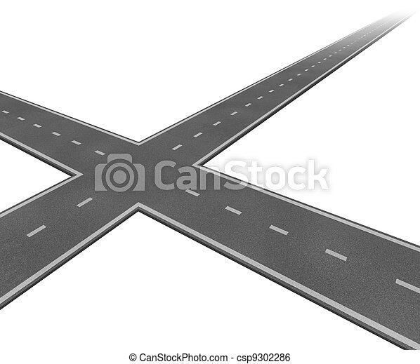 Crossroad Concept - csp9302286