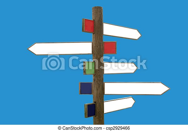 Crossroad wooden directional arrow signs - csp2929466