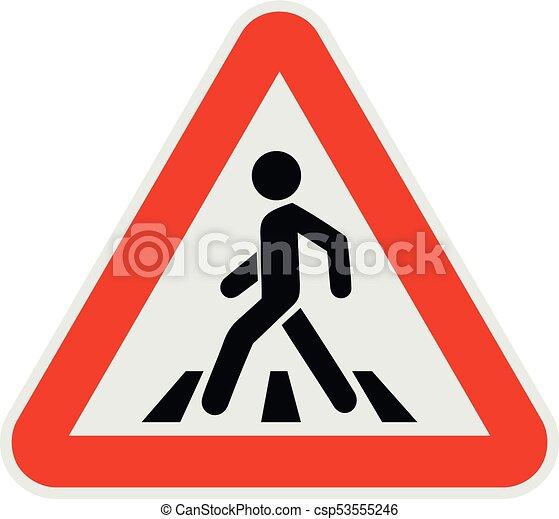 Crosswalk icon, flat style. - csp53555246