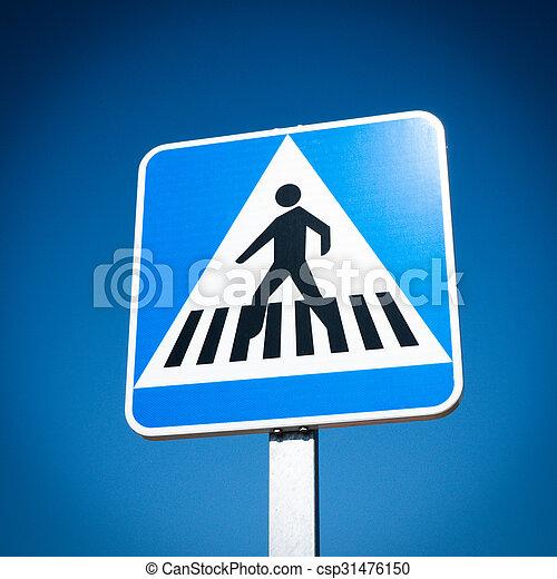 Crosswalk Sign - csp31476150