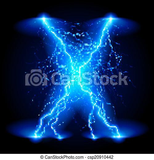 Crosswise lightning lines - csp20910442