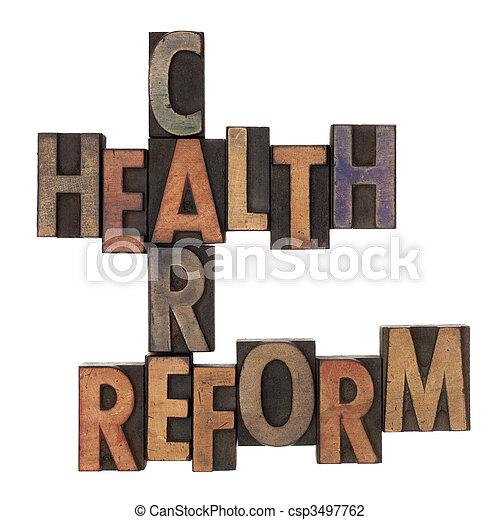 crossword, cuidado, saúde, reform - csp3497762