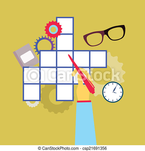 Crossword Puzzle With Different Icons