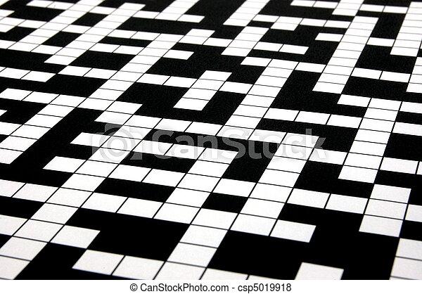 crossword puzzle - csp5019918