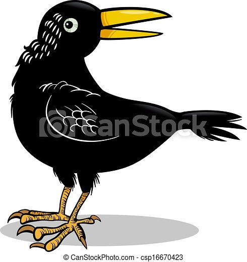 crow or raven bird cartoon illustration cartoon illustration of rh canstockphoto com bluebird clip art blackbird clipart free