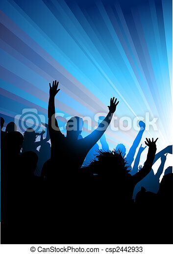 Crowd at A Concert - csp2442933