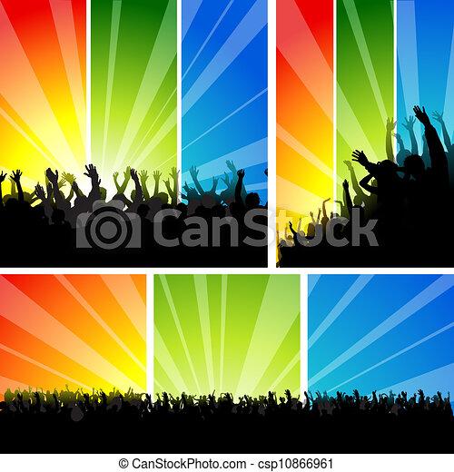 Crowd at the Concert Set - csp10866961
