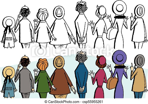 crowd looking up a crowd of people viewed from behind all looking rh canstockphoto com crown clip art free crow clip art