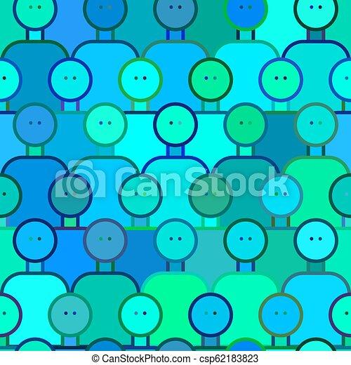 Crowd of people seamless pattern - csp62183823