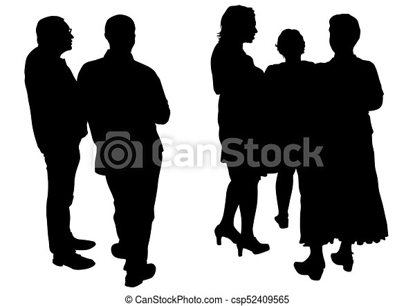 crowd people on street one big crowds people on white clip art rh canstockphoto com