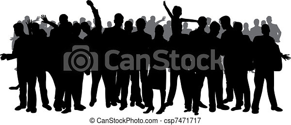 crowd silhouette - csp7471717