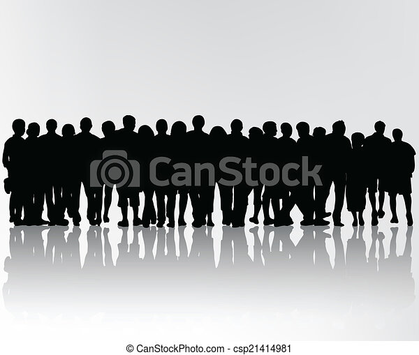 crowd silhouettes - csp21414981