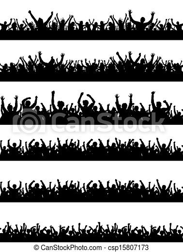 Crowd Silhouettes - csp15807173