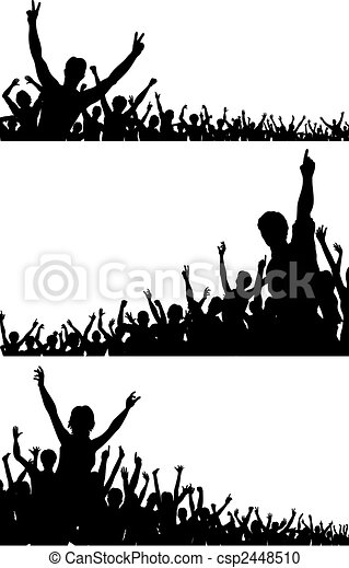 Crowd silhouettes - csp2448510