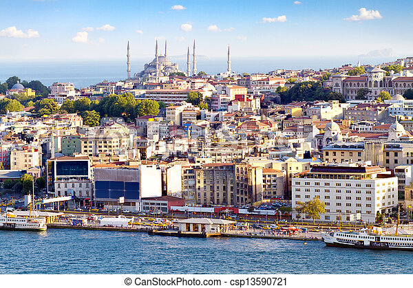 Crowded city of istanbul - csp13590721