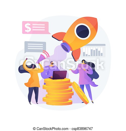 Crowdfunding abstract concept vector illustration. - csp83896747