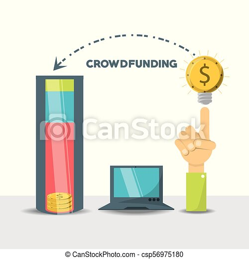 crowdfunding business financial company support - csp56975180