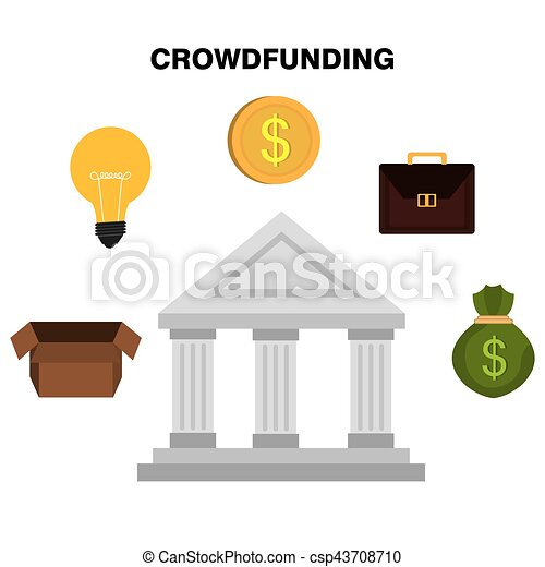 crowdfunding savings concept icon vector illustration design