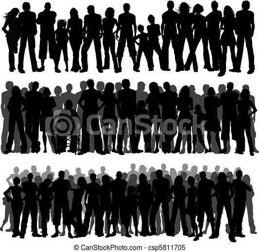 Crowds of people - csp5811705
