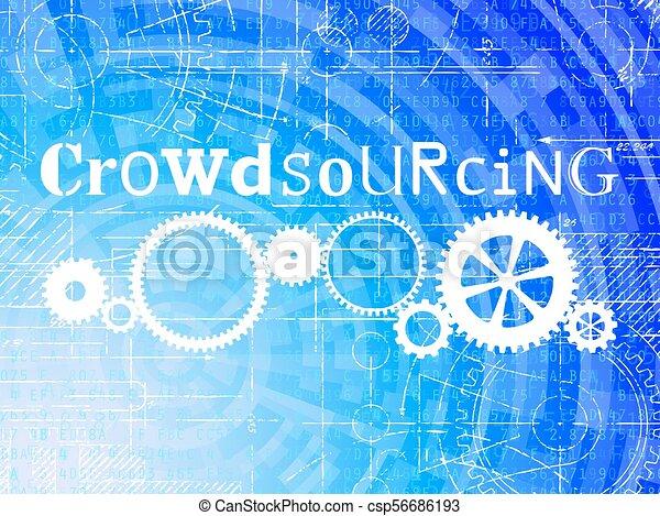 crowdsourcing, technologie de pointe, fond - csp56686193