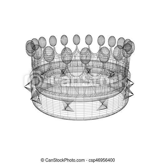 Crown. 3D illustration - csp46956400