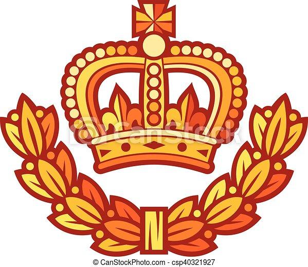 crown and laurel wreath - csp40321927