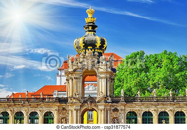 Crown Gate pedestal for the Polish crown  - csp31877574