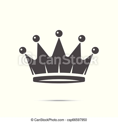 Crown Icon in trendy flat style isolated on white background. Royal symbol for your web site design, logo, app, UI. Vector illustration - csp66597950