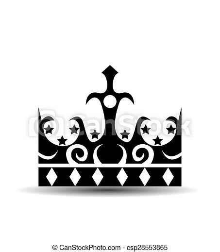 Crown, Isolated On White Background - csp28553865