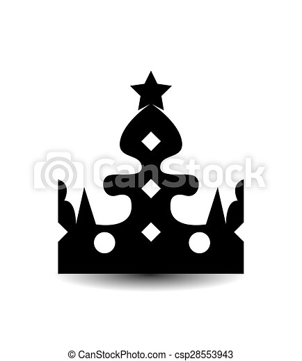 Crown, Isolated On White Background - csp28553943