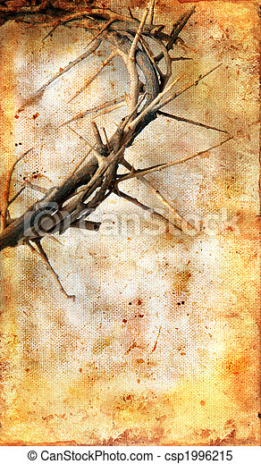 Crown of Thorns on a Grunge Background - csp1996215